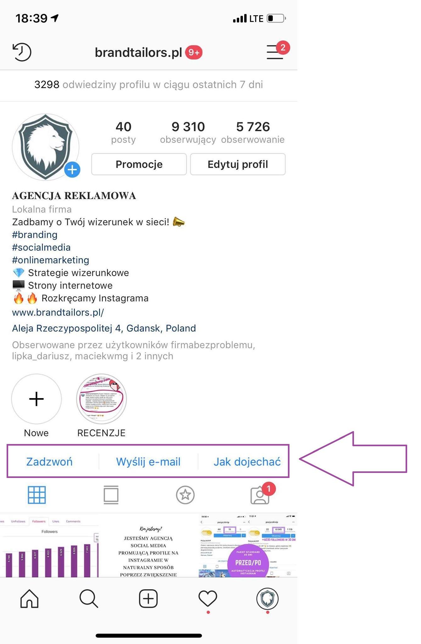 instagram-wizytówka-firmy